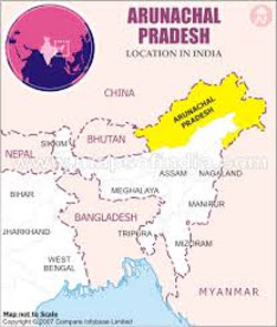 Arunachal Pradesh, Location Map