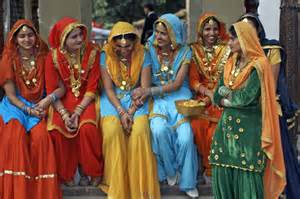 Women in traditional attire