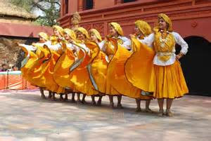 Women performing a folk dance