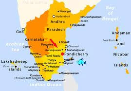 Pondicherry Location Map in South India
