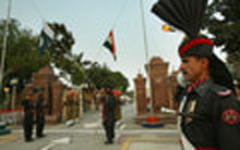 WAGAH BORDER LOWERING OF THE FLAG